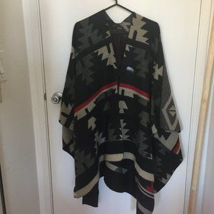 poncho, lightweight with Navajo design